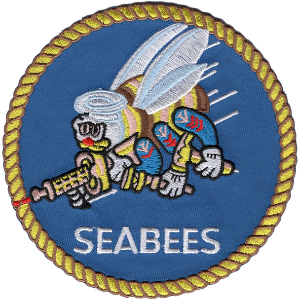 Mobile Construction Battalion Seabees Patch