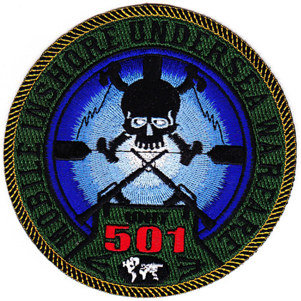 MIUWU-501 Naval Mobile Undersea Warfare Unit Five Zero One Patch