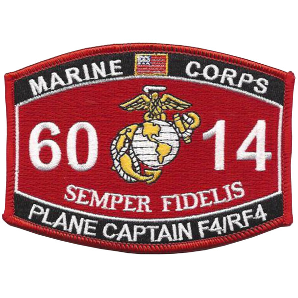 Military Occupational Specialty 6014 Plane Captain F4/Rf4 MOS Patch
