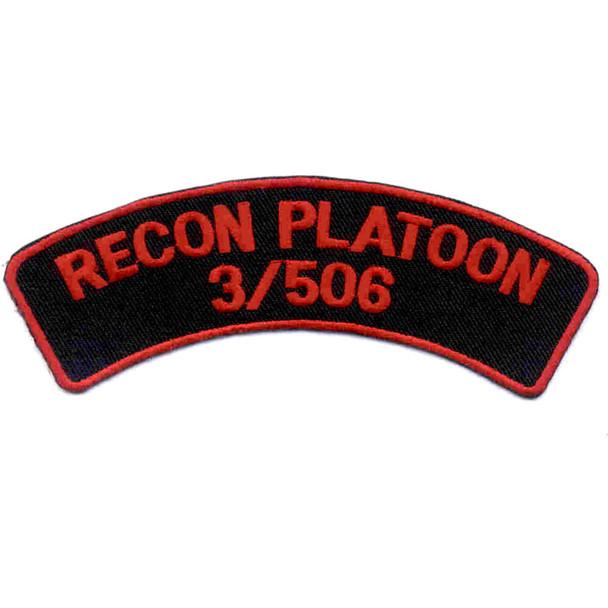 506th Airborne Infantry Regiment Patch Recon Platoon 3/506 - J Version