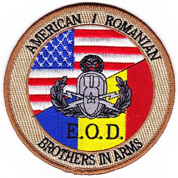 EOD Explosives Ordinance Disposal American Romanian Patch