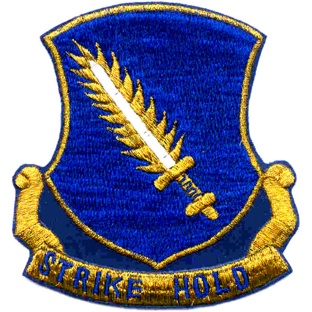 504th Airborne Infantry Regiment Patch Strike Hold Gold Metalic Thread