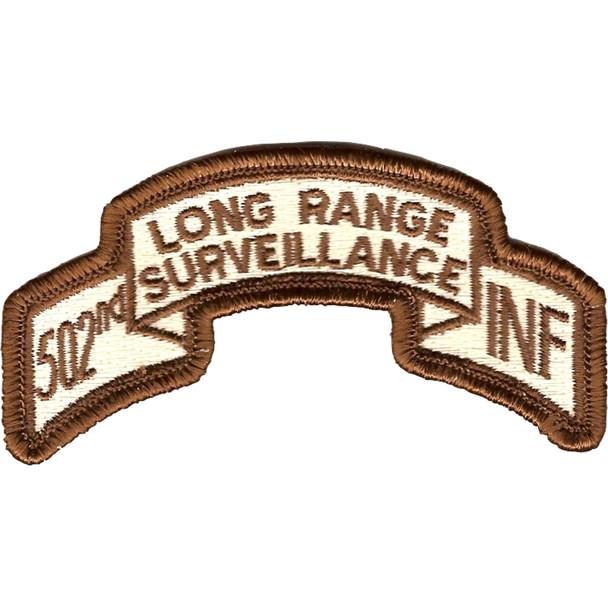 502nd LRS Infantry Desert Patch