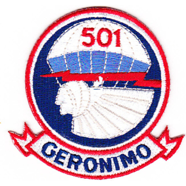501st Airborne Infantry Regiment Patch Geronimo - Version D1 Small