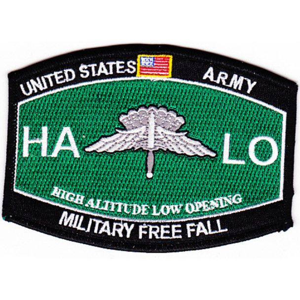 High Altitude Low Opening Parachutist MOS Patch HALO