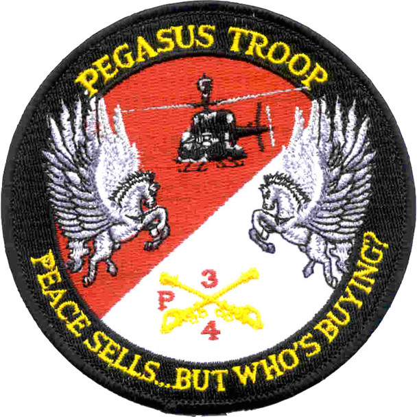 4th Sqaudron 3rd Aviation Cavalry Regiment Patch Hook And Loop