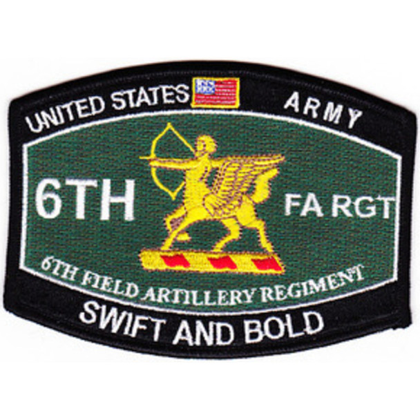 6th Field Artillery Regiment Military Occupational Specity Military MOS Rating Patch