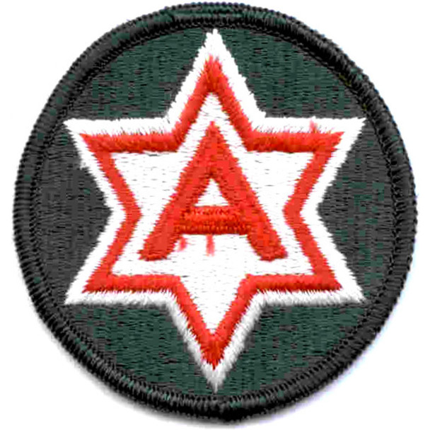 6th Army Patch Shoulder