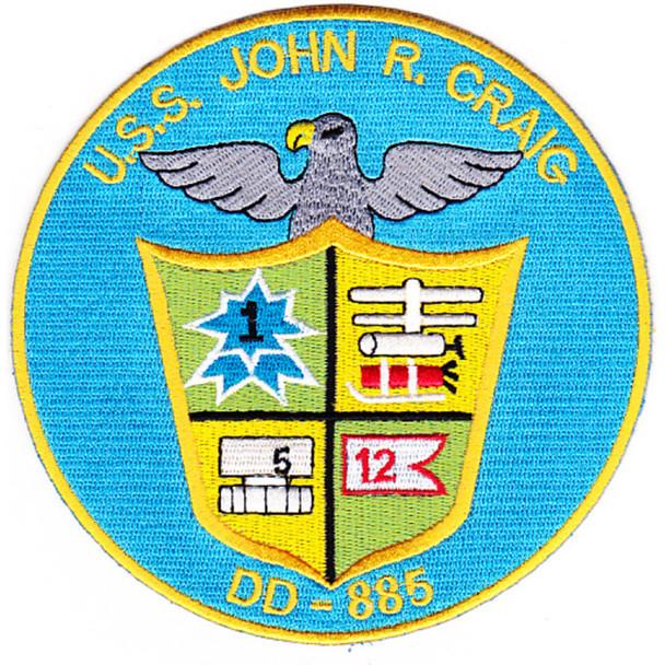 DD-885 USS John R Craig Patch - Version B