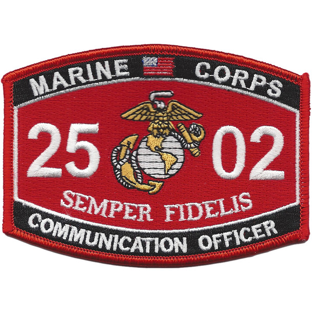 Communication Officer 2502 MOS Patch