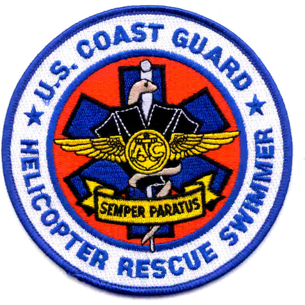 CG Helicopter Rescue Swimmer Patch
