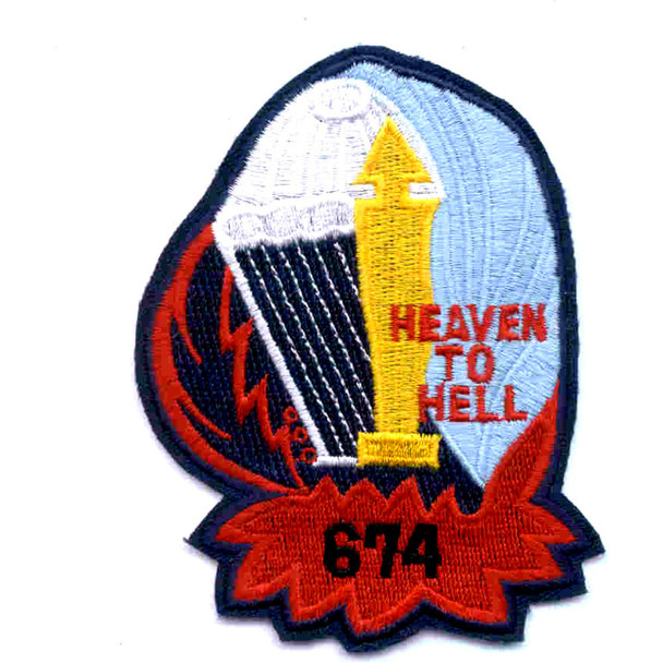 674th Airborne Field Artillery Battalion Patch Heaven To Hell A Version