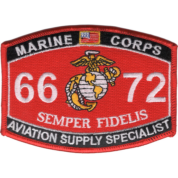 6672 Aviation Supply Specialist MOS Patch
