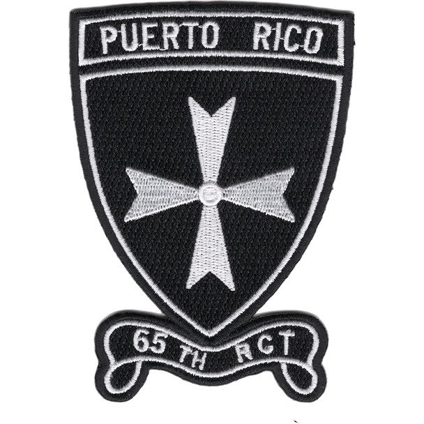 65th RCT Patch Regimental Combat Team Puerto Rico