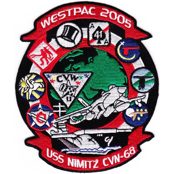 CVN-68 USS Nimitz Patch Westpac 2005