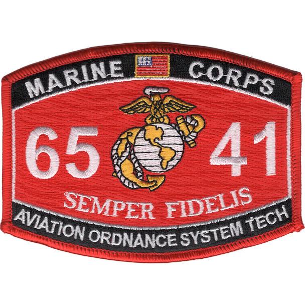 6541 Aviation Ordnance System Technician MOS Patch