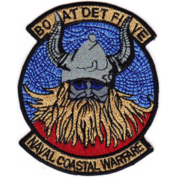 Boat Det 5 United States Naval Coastal Warfare Patch