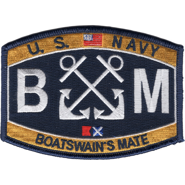 BM Boatswain's Mate Rating Patch