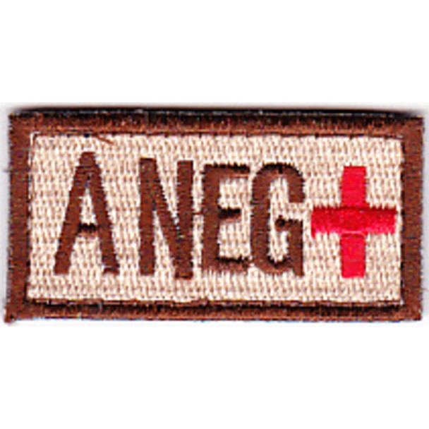 Blood Type A Negative Desert Patch Hook And Loop