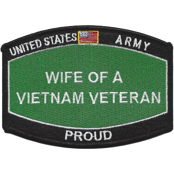 Army Wife Of A Vietnam Veteran Patch