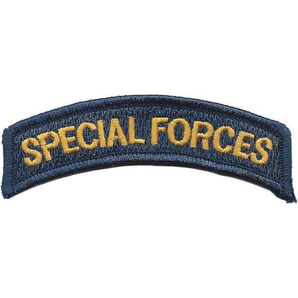 Army Special Forces Rocker Gold Letter Patch