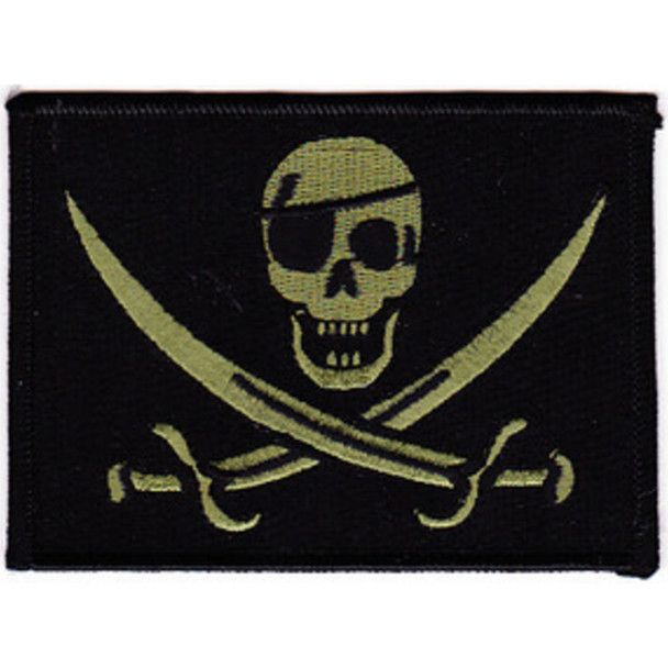Color Seal OIF OEF One Eye Calico Jack Pirate Patch Acu