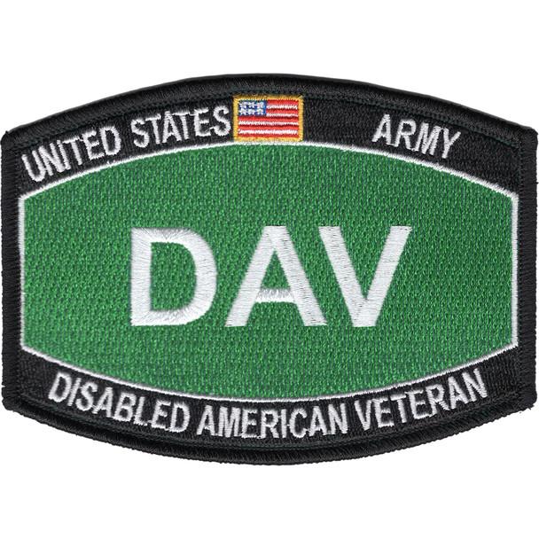 Army DAV Disabled American Veteran Army MOS Parch