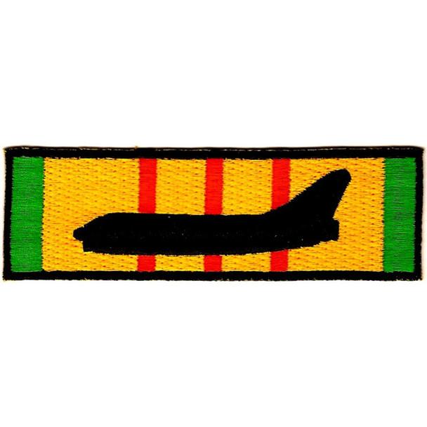A-7 Corsair Silhouette On Vietnam Service Ribbon Patch