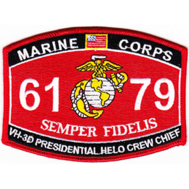 6179 Vh-3D Presidential Helo Crew Chief MOS Patch