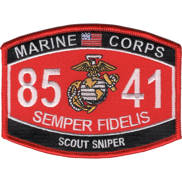 8541 Scout Sniper MOS Patch