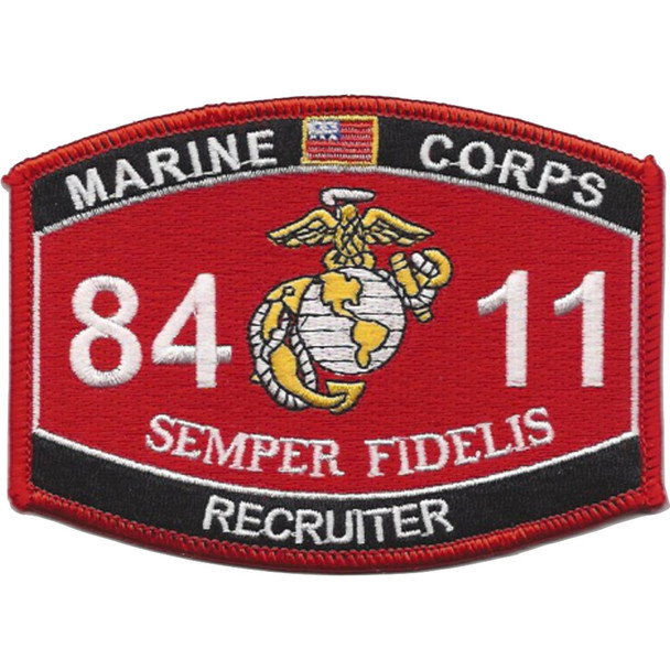 8411 Recruiter MOS Patch