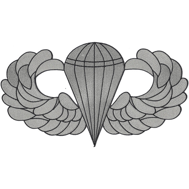 Airborne Basic Jump Wings Large Back Patch