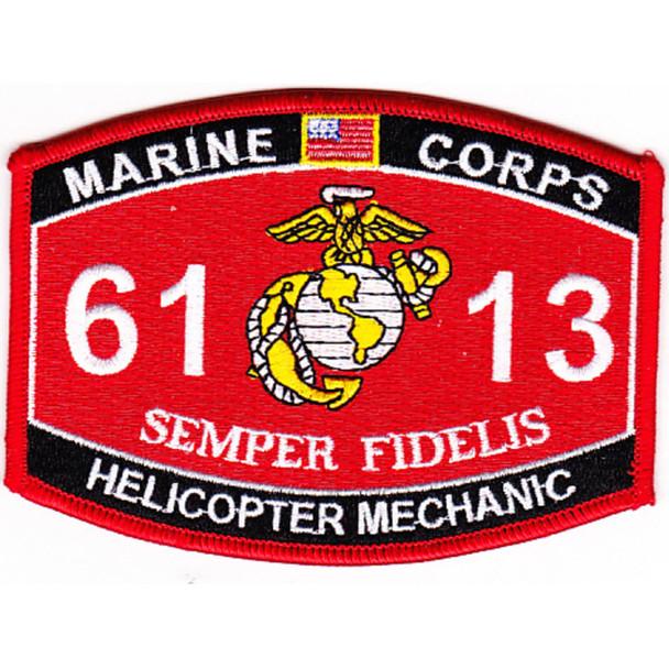 6113 Helicoper Mechanic MOS Patch