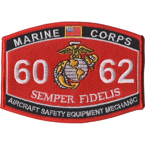 6062 Aircraft Safety Equipment Mechanic MOS Patch