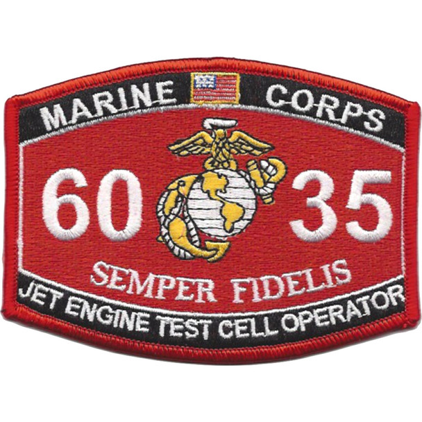 6035 Jet Engine Test Cell Operator MOS Patch
