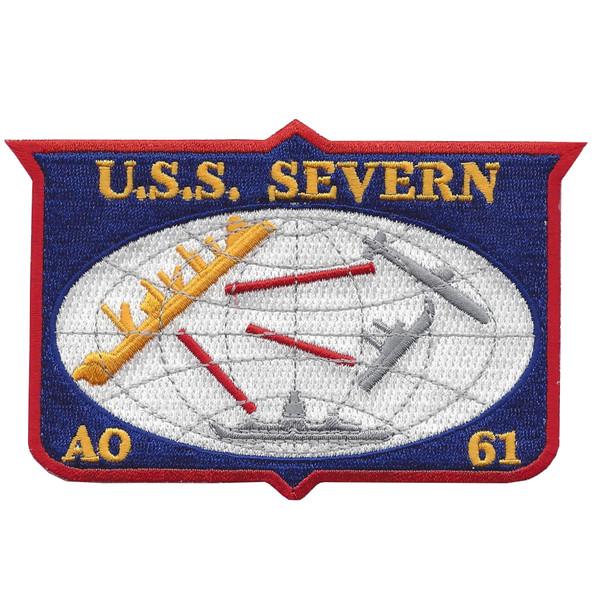 AO-61 USS Severn Cimarron Class Fleet Oiler Patch