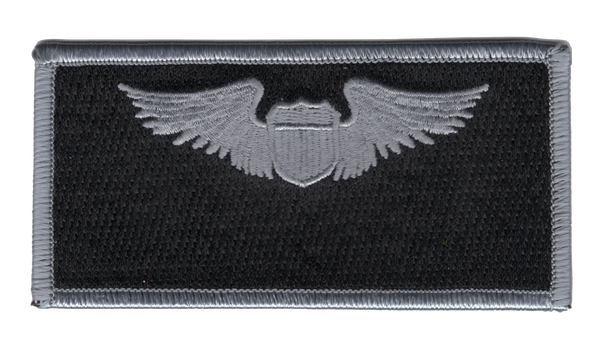 Air Force Pilot Wings Name Patch Silver And Black