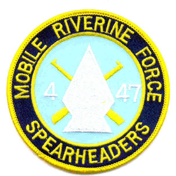 4th Of The 47th Infantry Regiment Mobile Riverine Force Patch Spearheaders