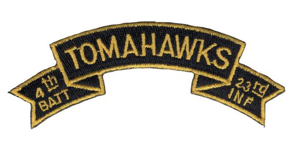 4th Mechanized Battalion 23rd Infantry Regiment Tomahawks Scroll Patch