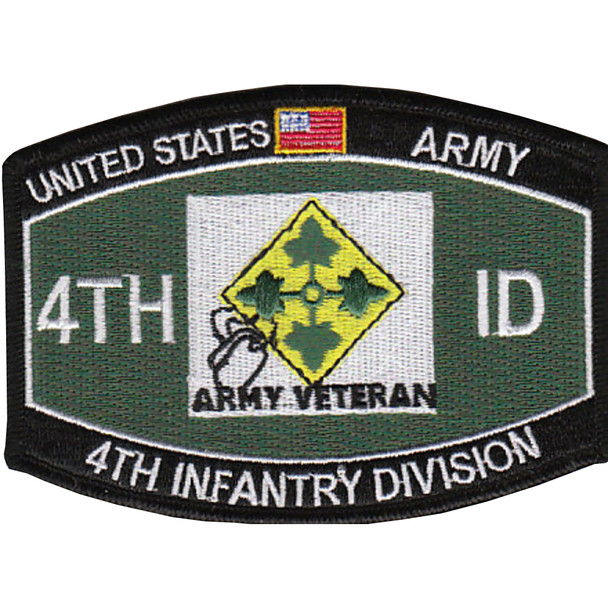 4th Infantry Division Military Occupational Specialty MOS Patch Army Veteran
