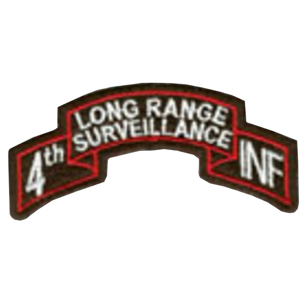4th Infantry Division Long Range Scroll Patch