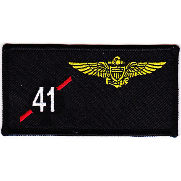VF-41 Fighter Squadron Four One Pilot Name Tag Patch