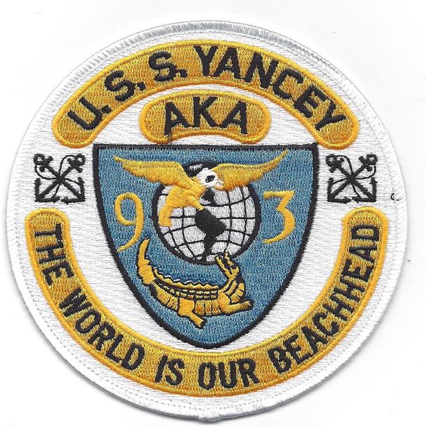 USS Yancey AKA-93 Attack Cargo Ship Patch