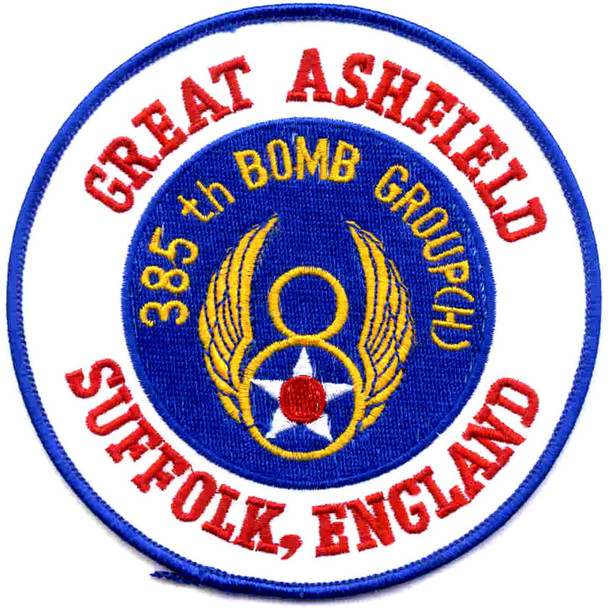 385th Bombardment Group Suffolk England Patch