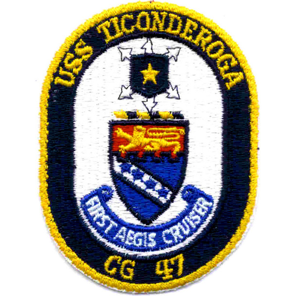 USS Ticonderoga CG-47 Patch