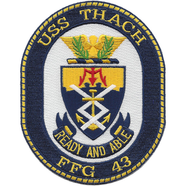 USS Thach FFG-43 Frigate Ship Patch