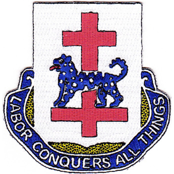 366th Infantry Regiment Patch Labor Conquers All Things