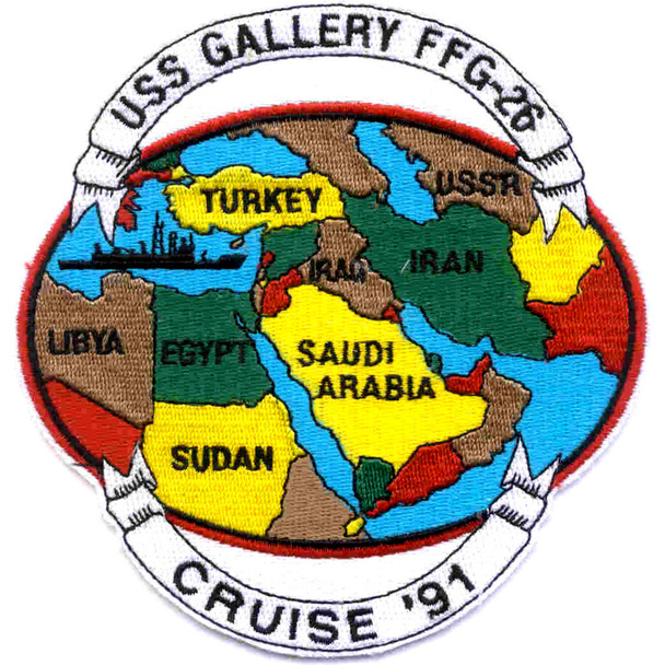 """USS Gallery FFG-26 Patch """"Cruise 91"""""""