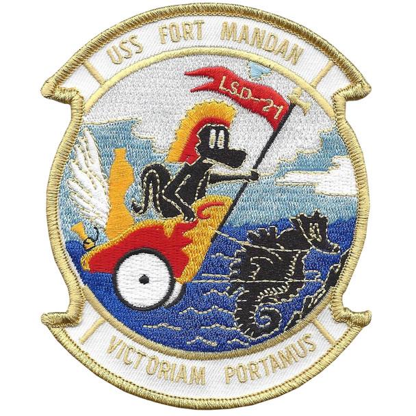 USS Fort Mandan LSD-21 Dock Landing Ship Patch