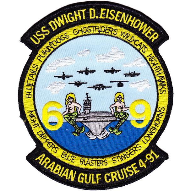 USS Dwight D. Eisenhower CVN-69 Cruise 4-91 Patch